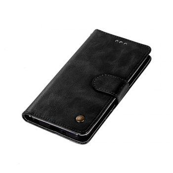 Extravagant Retro Fashion Flip Leather Case PU Wallet Cover Cases For LG Q6A / Q6 Plus Phone Bag with Stand - BLACK