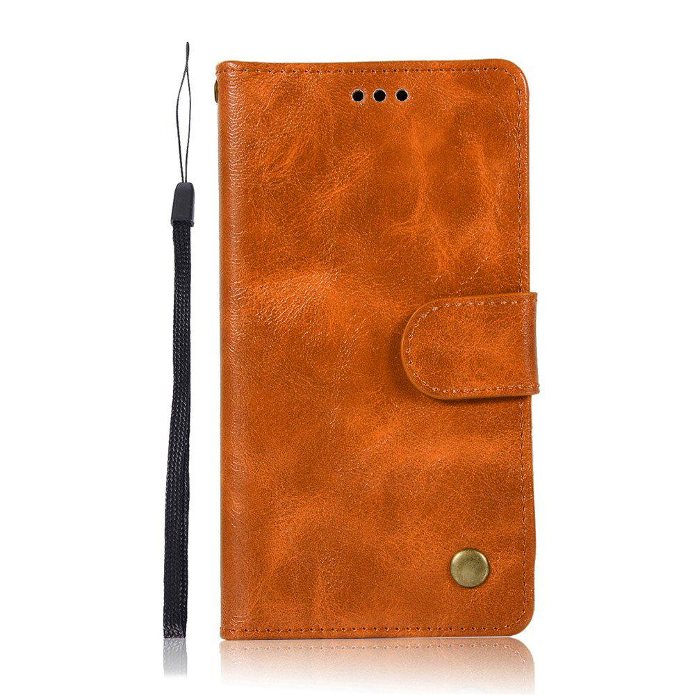 Extravagant Retro Fashion Flip Leather Case PU Wallet Cover Cases For LG Q6A / Q6 Plus Phone Bag with Stand - CITRUS