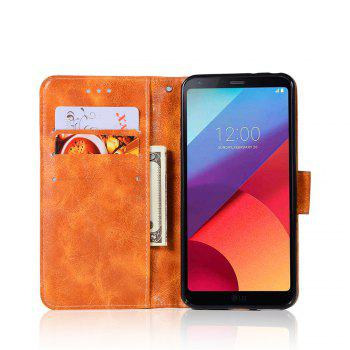 Extravagant Retro Fashion Flip Leather Case PU Wallet Cover Cases For LG G6 5.7 inch PPhone Bag with Stand - CITRUS
