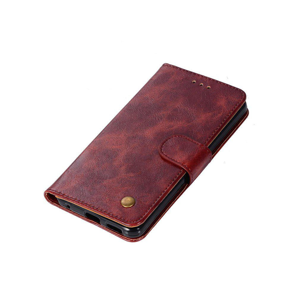 Extravagant Retro Fashion Flip Leather Case PU Wallet Cover Cases For LG G6 5.7 inch PPhone Bag with Stand - WINE RED