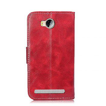 Filp Leather Case for Huawei Y3 II Wallet Magnetic Cover for Huawei Ascend Y3 II/LUA-U22/Y3 2/Y3II/Lua-L21 Phone Bags - RED