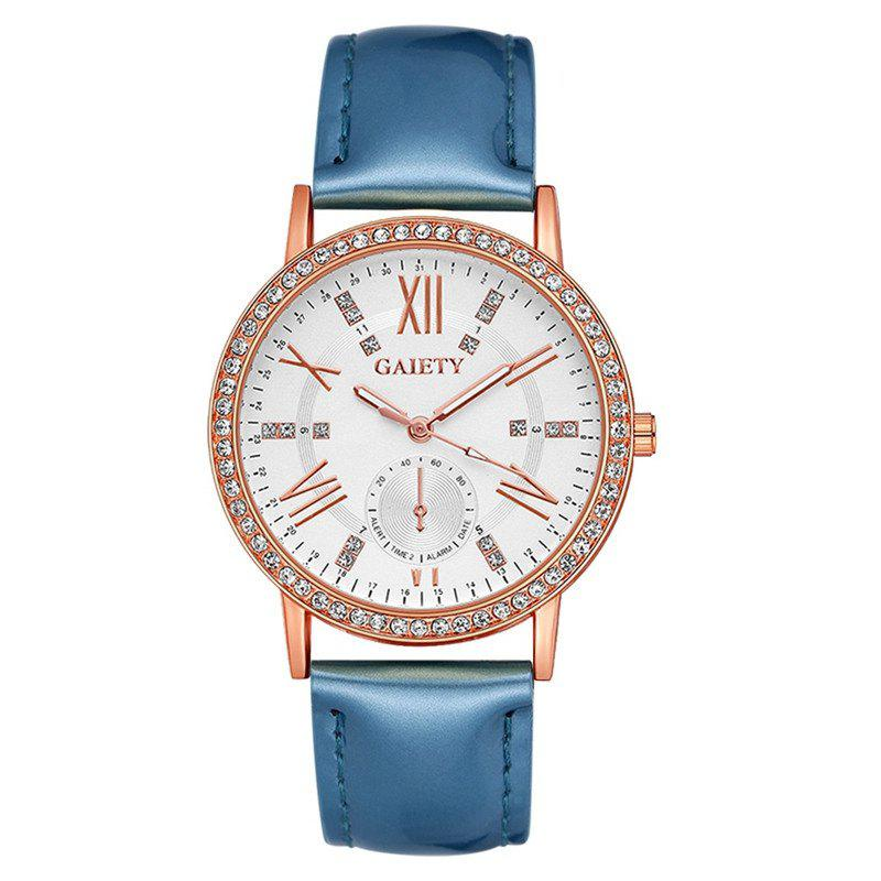 GAIETY G078 Ladies Fashion Leather Wristwatch - WINDSOR BLUE