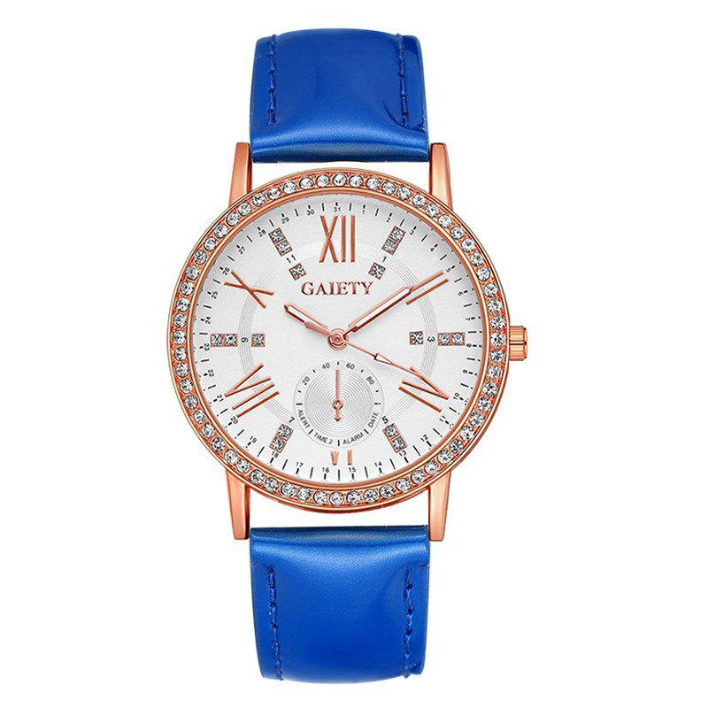 GAIETY G078 Ladies Fashion Leather Wristwatch - BLUE