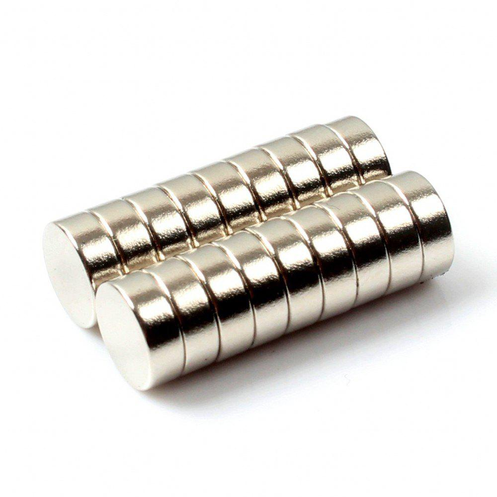 35-Pack 6 x 2mm Round Magnets - SILVER