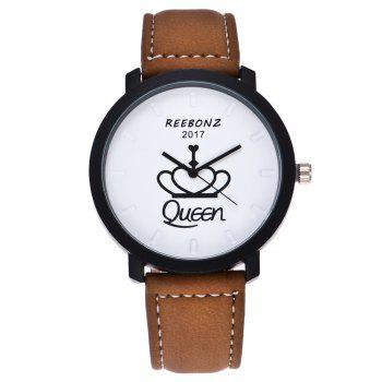 REEBONZ Fashion Leisure Personality KING QUEEN Quartz Watch - WHITE WHITE