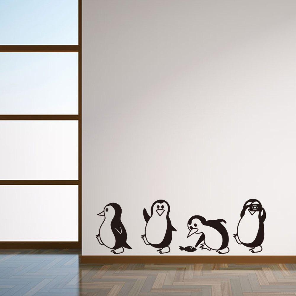 Cute Penguin Cartoon Wall Stickers For Kids Room Decoration