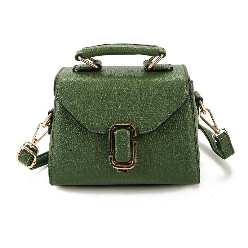 Simple wild atmospheric mini diagonal package hand shoulder small square  package - GREEN 9e11d099eb