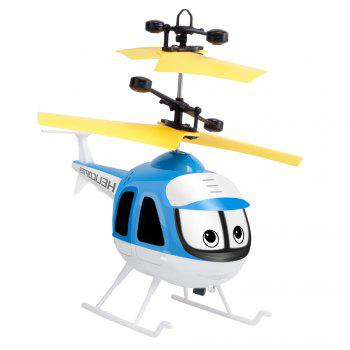 Upgrade Mini RC Helicopter Induction Suspension Remote Controll Plane Toys -  BLUE