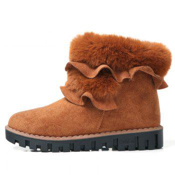 Lady Casual Trend pour Slip de mode sur la neige SuperStar Suede Warm Winter Bottines - Jaune 36