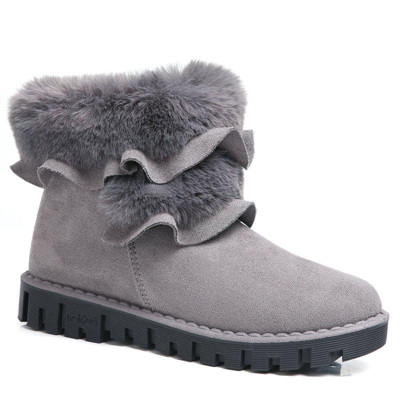 Lady Casual Trend pour Slip de mode sur la neige SuperStar Suede Warm Winter Bottines - gris 36
