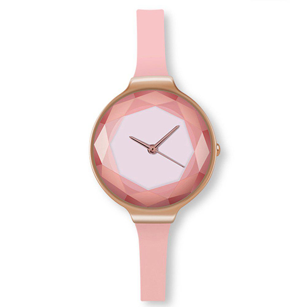 Cooho Watch Women Exquisite Diamond Quartz Ladies Watch Fashion Leather Wristwatch Women Watches Saat Relogio Feminino - PINK
