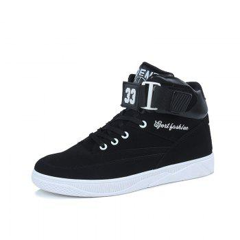 Men'S Fashion  Leisure  Shoes Students Basketball Shoes - BLACK 40