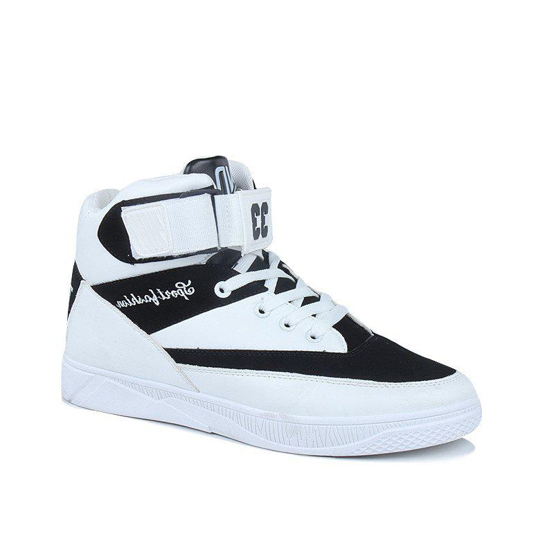 Men'S Fashion  Leisure  Shoes Students Basketball Shoes - WHITE 40