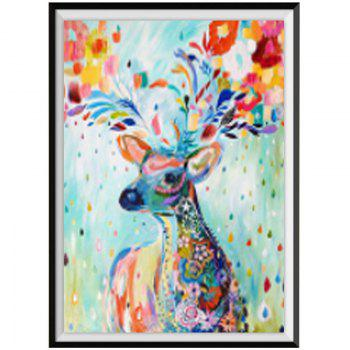 NAIYUE 8860 Color Deer Animal Print Draw Diamond Painting Diamond Embroidery - COLORMIX COLORMIX
