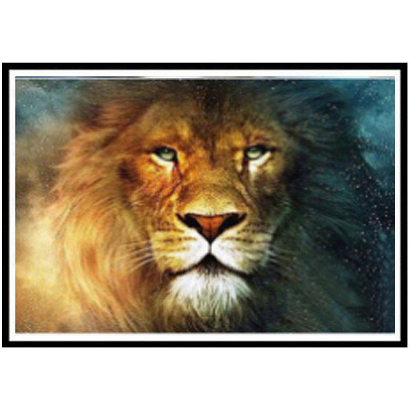 NAIYUE 9460 Lion Animal Print Draw Diamond Painting Diamond Embroidery - BROWN