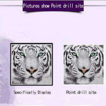 NAIYUE 9533 Full Tiger Animal Print Draw Diamond Painting Diamond Embroidery -  BLACK WHITE