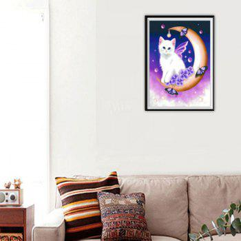 NAIYUE 9741 Moon Cat Animal Print Draw Diamond Painting Full Diamond Embroidery -  COLORMIX