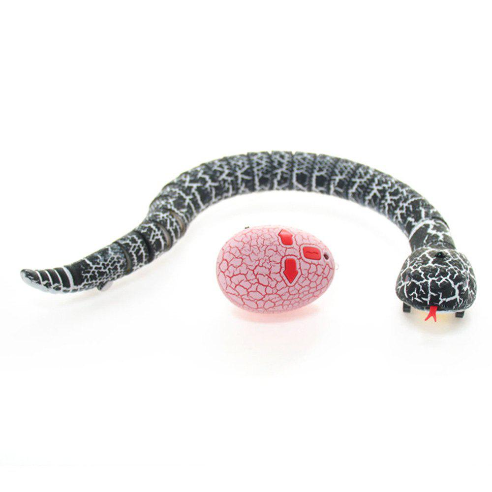 Infrared Remote Control RC Black Rattlesnake Snake Fun Joke Gag Toy USB Charging infrared remote control rc black