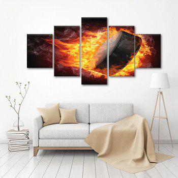 5PCS Abstract Ice Hockey Fire Alliance Without Frame print - COLOUR COLOUR