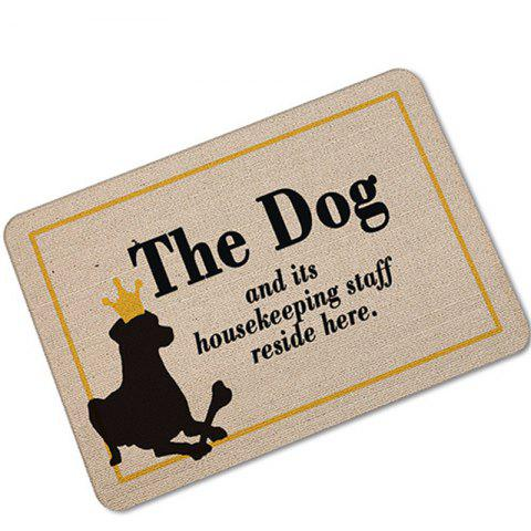 Creative Cute Dog Pattern Antiskid Floor Mat - COLORMIX