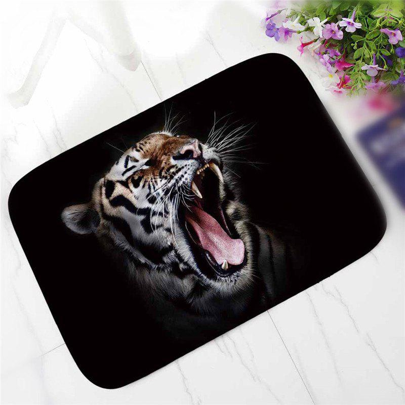 Creative Individuality Tiger Pattern Antiskid Floor Mat - COLORMIX
