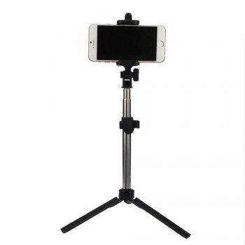 Extendable Monopod with Tripod Stand Bluetooth Selfie Stick for iPhone and Android - BLACK