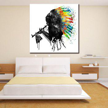 Abstract Watercolor Style Canvas Print Frameless Home Decoration - COLORFUL COLORFUL