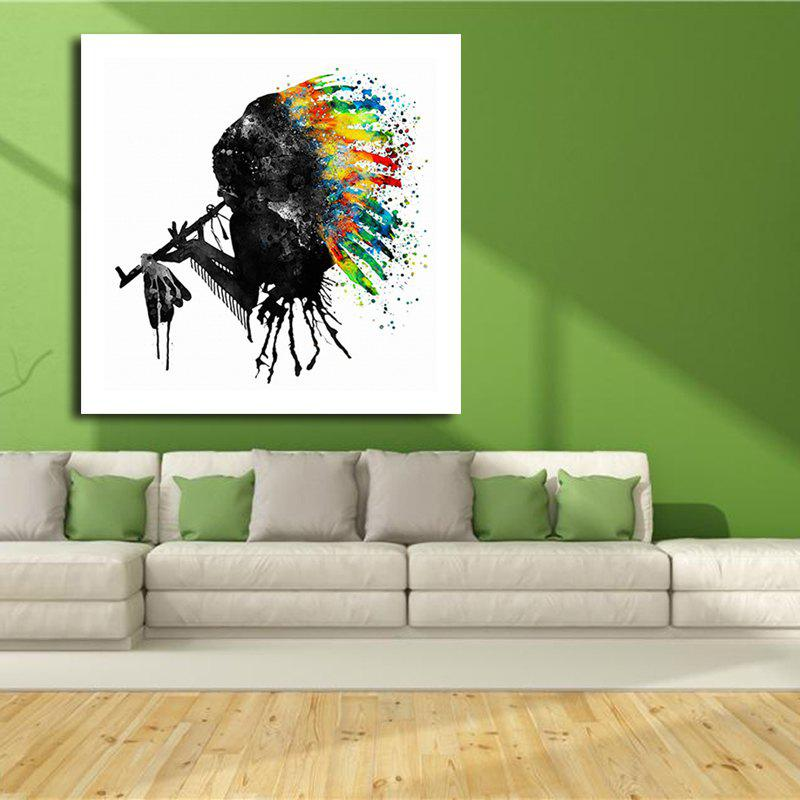 Abstract Watercolor Style Canvas Print Frameless Home Decoration - COLORFUL 20 X 20 INCH (50CM X 50CM)