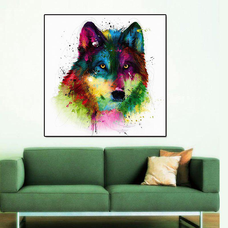 Modern Frameless Canvas Print of Wolf for Home Decoration modern dictionary art style canvas print frameless home decoration