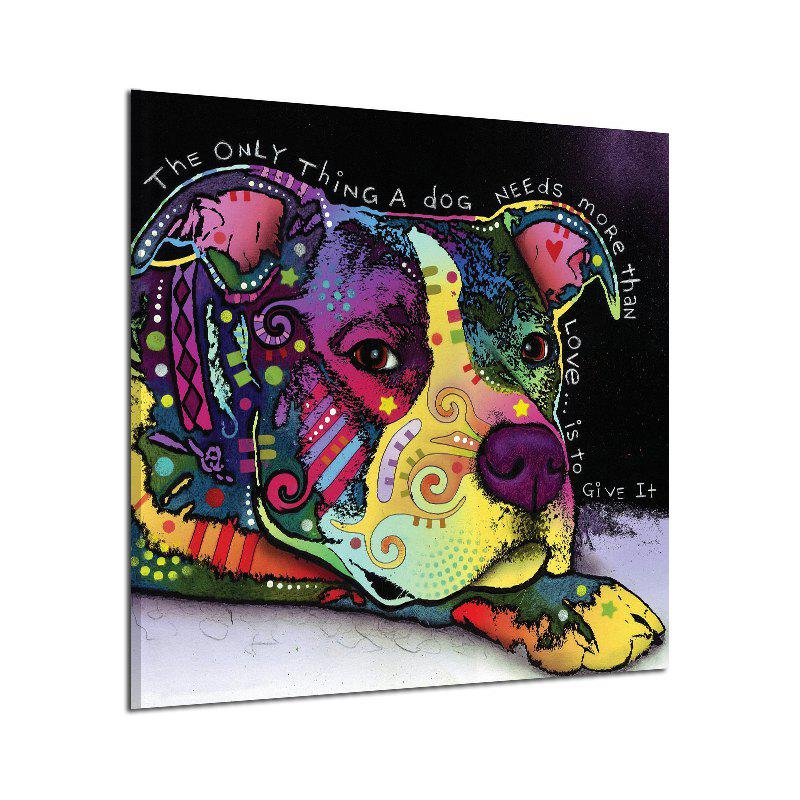 Abstract Frameless Canvas Print of Dog for Home Wallart Decal