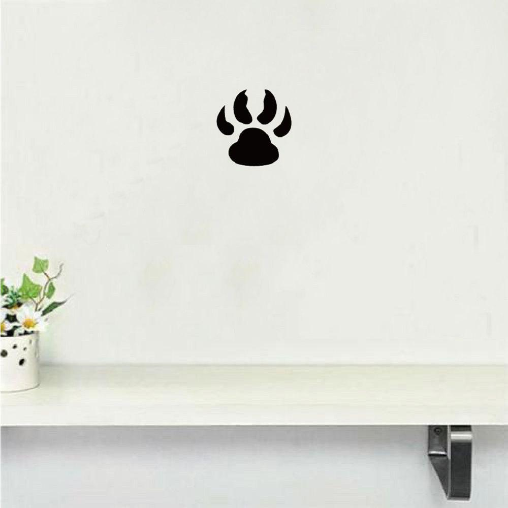 Wolf Paw Print Wall Sticker Creative Cartoon Animal Vinyl Wall Decal Home Decor dsu details about happy girls wall sticker vinyl decal home room decor quote