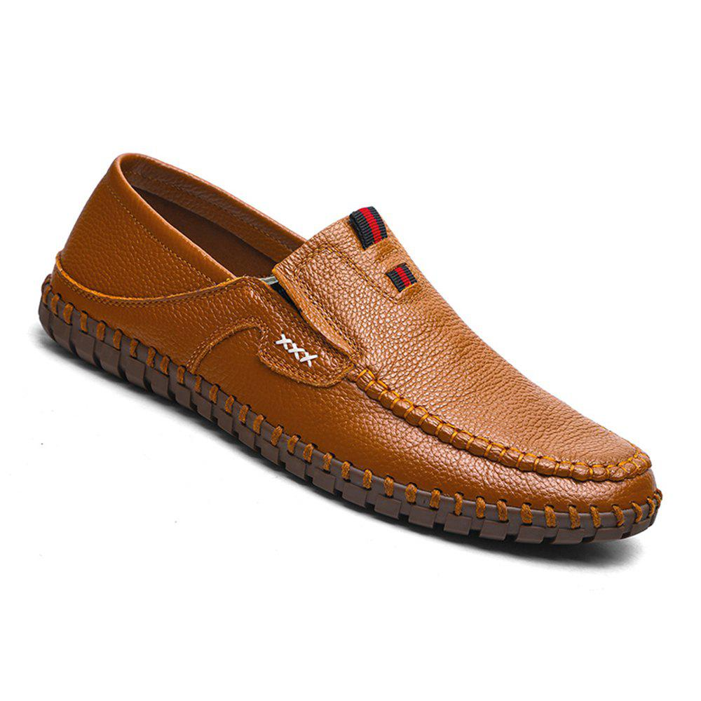 2018 Sewing Pattern Slip on Doug Shoes for Men Genuine Leather ...