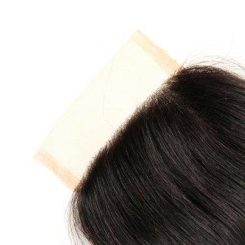 Peruvian Unpreocessed Virgin Human Hair Swiss Lace Closure 8 inch - 20 inch - BLACK BLACK