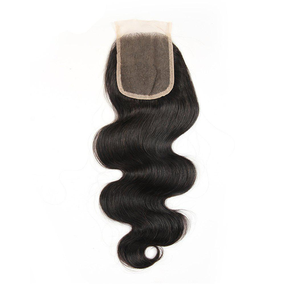 Peruvian Unpreocessed Virgin Human Hair Swiss Lace Closure 8 inch - 20 inch - BLACK 20INCH