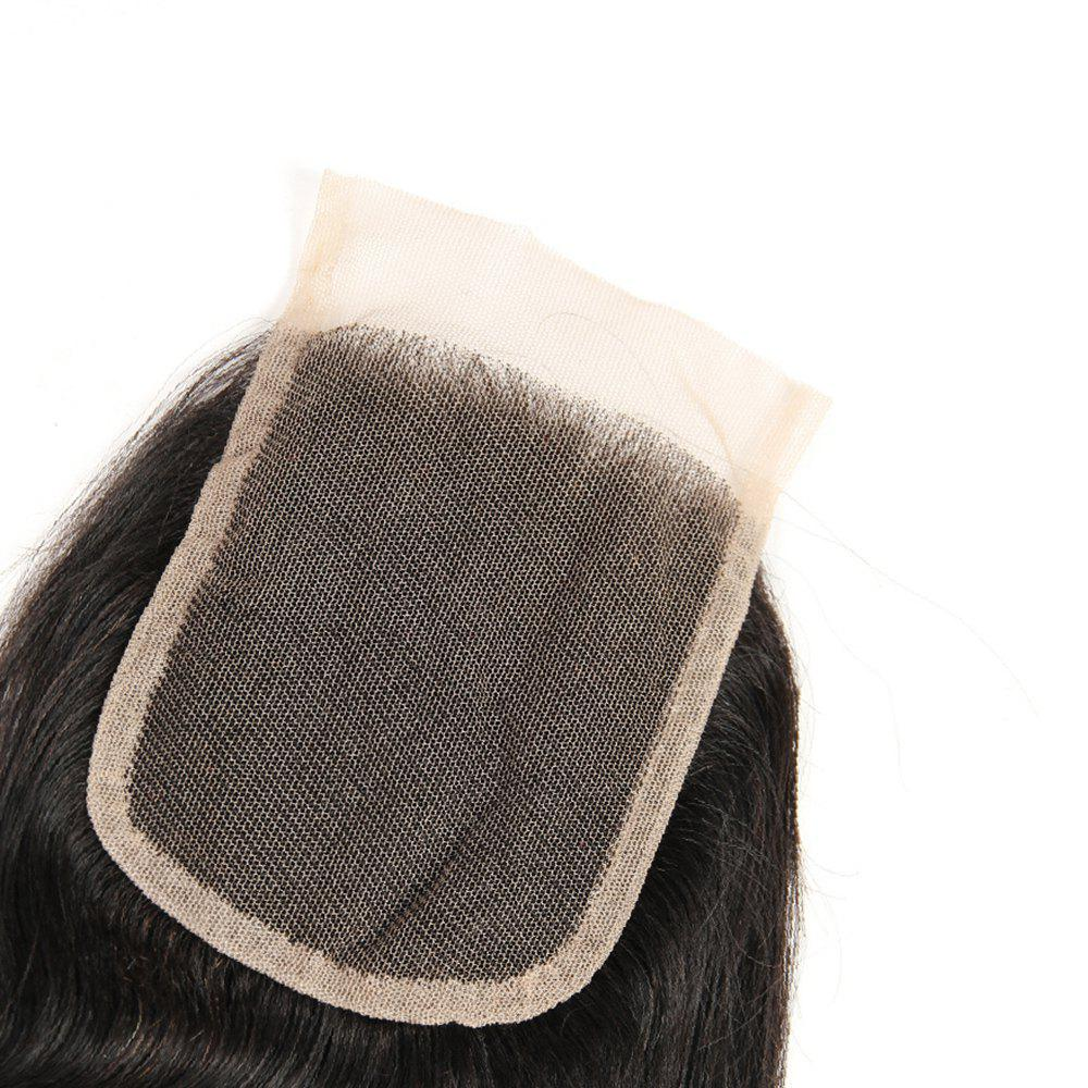 Peruvian Unpreocessed Virgin Human Hair Swiss Lace Closure 8 inch - 20 inch - BLACK 18INCH