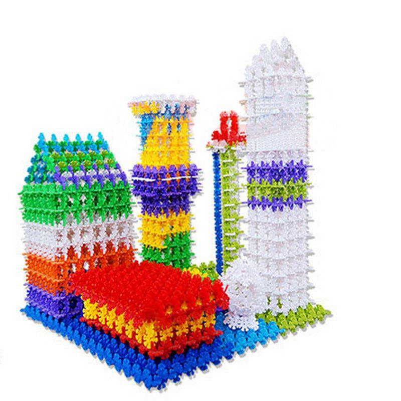 100PCS Multicolor Kid Baby Snowflake Creative Building Plastic First-Rate Blocks Toys DIY kid s home toys 75pcs my first edition