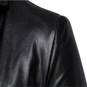 New Fashion British Foreign Trade Men'S Clothing Simple To Repair Leather ClothesB011 - BLACK 4XL