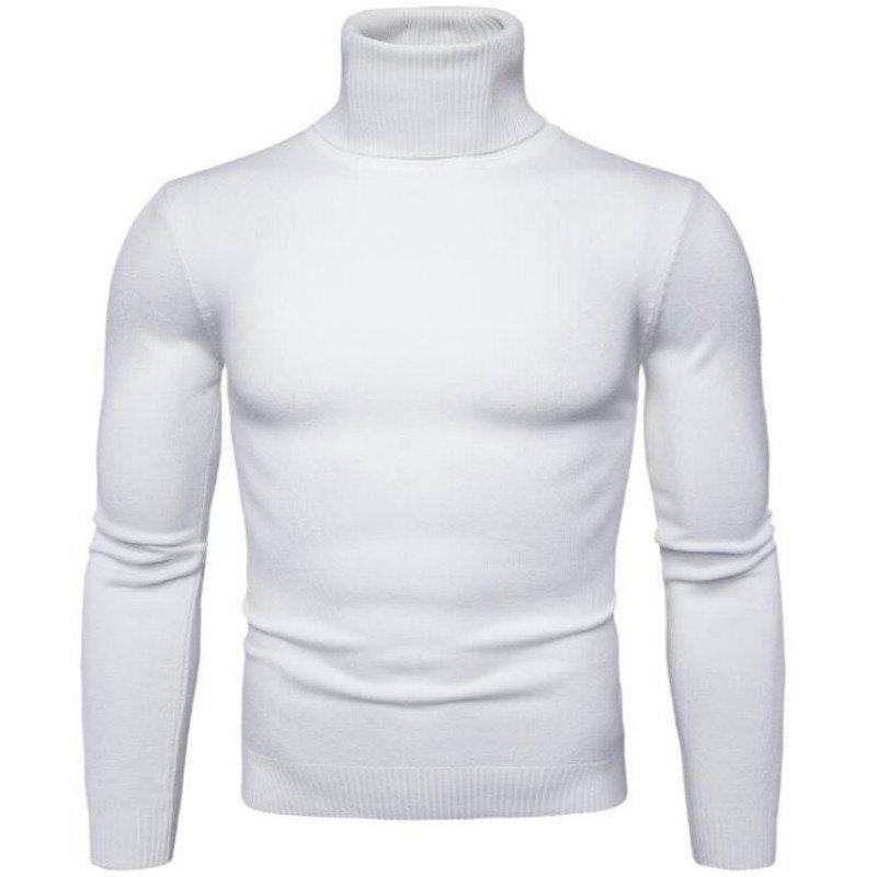 Nouveau Men'Scollar Pull Slim Simple Mode Commerce Y959 - Blanc L