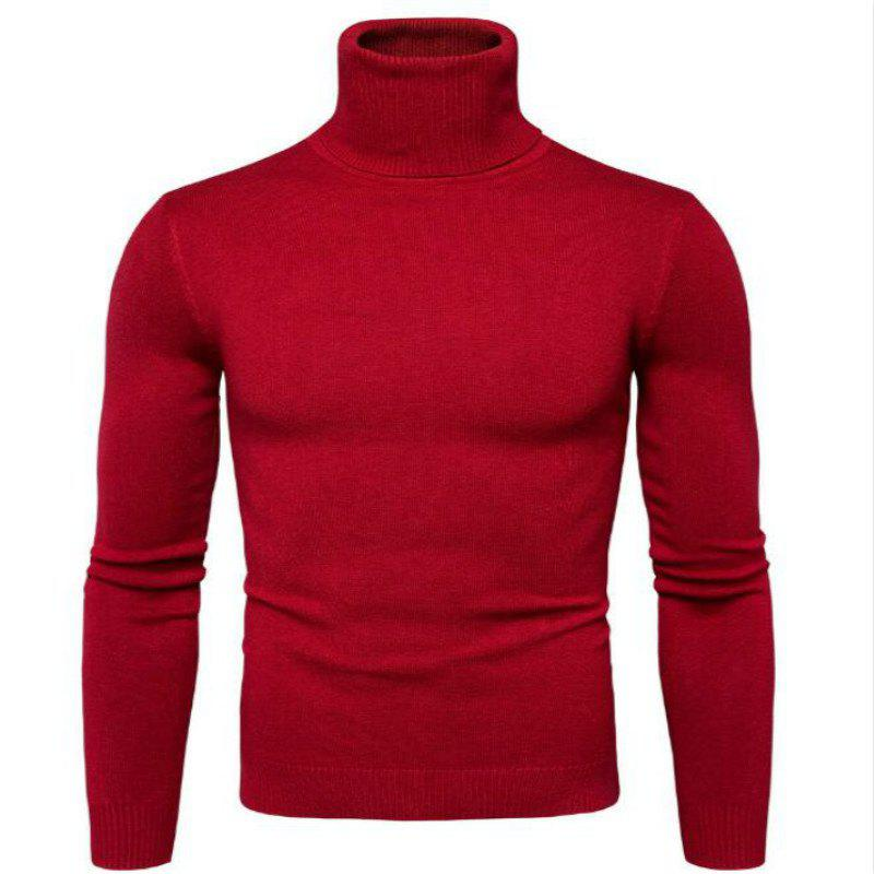 Nouveau Men'Scollar Pull Slim Simple Mode Commerce Y959 - Rouge L