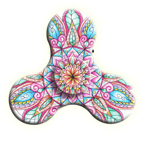 Bluetooth 3.0 Speaker Fidget Spinner Funny Stress Reliever Communication Tool with LED Lights - PINK
