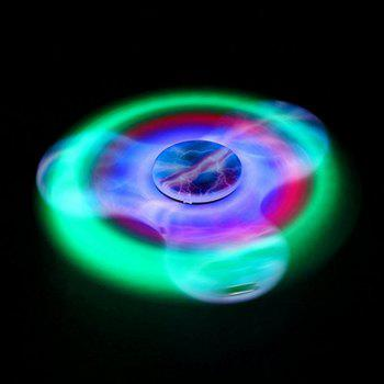 Bluetooth 3.0 Speaker Fidget Spinner Funny Stress Reliever Communication Tool with LED Lights - BLUE