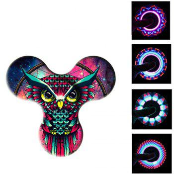 Bluetooth 3.0 Speaker Fidget Spinner Funny Stress Reliever Communication Tool with LED Lights - RED