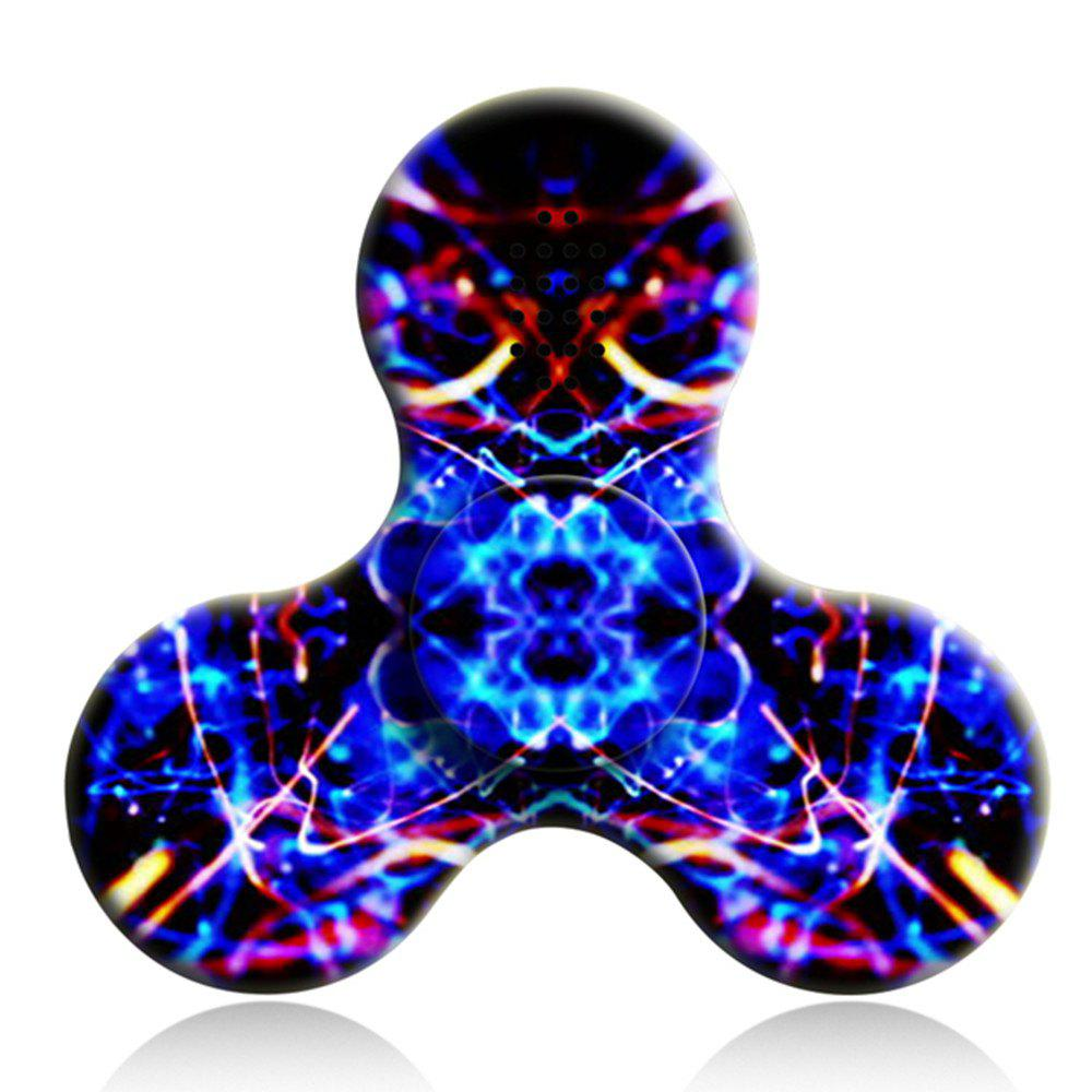 Bluetooth 3.0 Speaker Fidget Spinner Funny Stress Reliever Communication Tool with LED Lights - AZURE