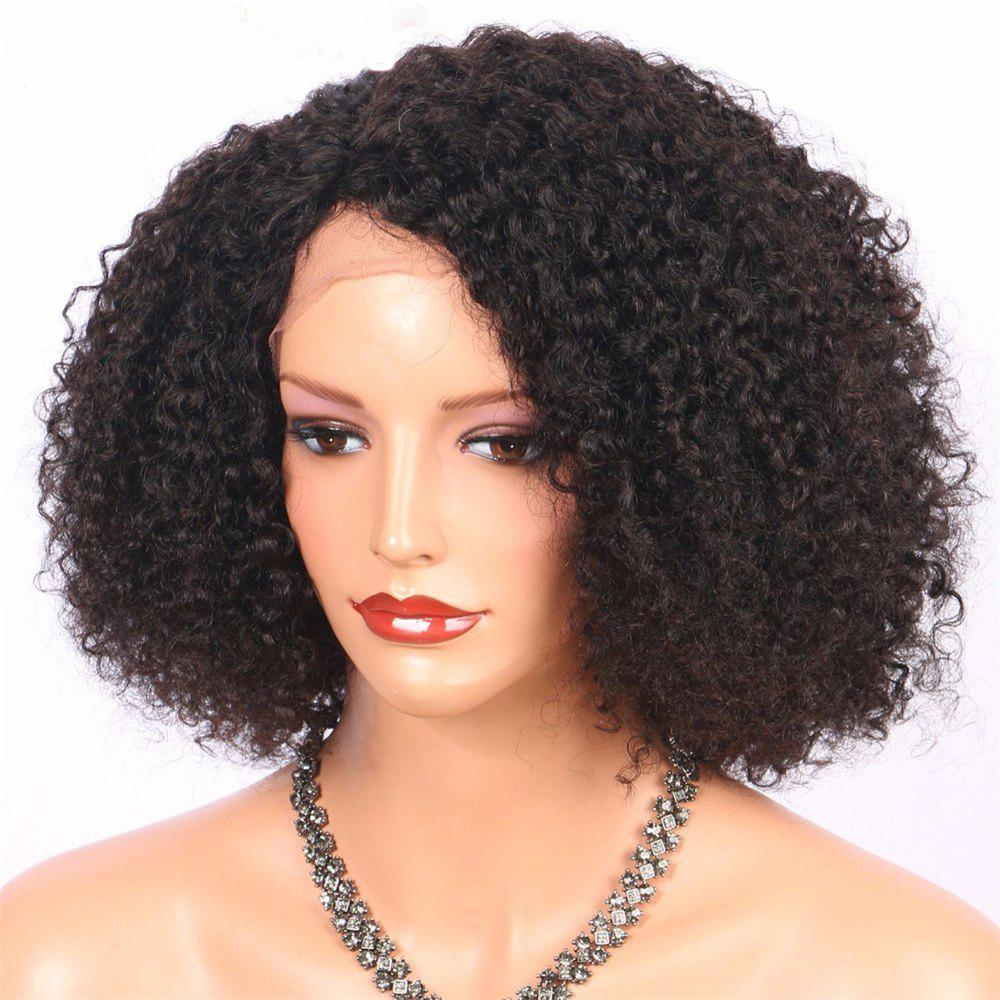 Brazilian Virgin Human Hair Kinky Curly Bob Lace Fron Wig 14 16 18Inch synthetic heat resistant kinky straight bob curly full hair wig