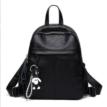 Fashion Design College Students PU Leather Backpack