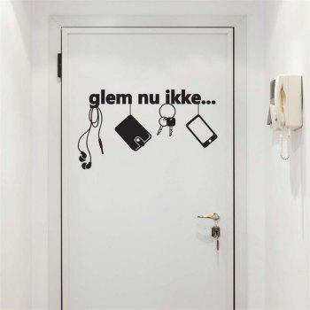 Creative Wall Stickers For Door DecaL - BLACK