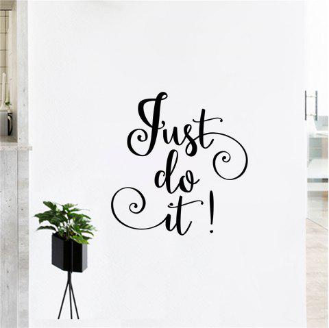 Quote Decal Just Do It For Home Decoration - BLACK