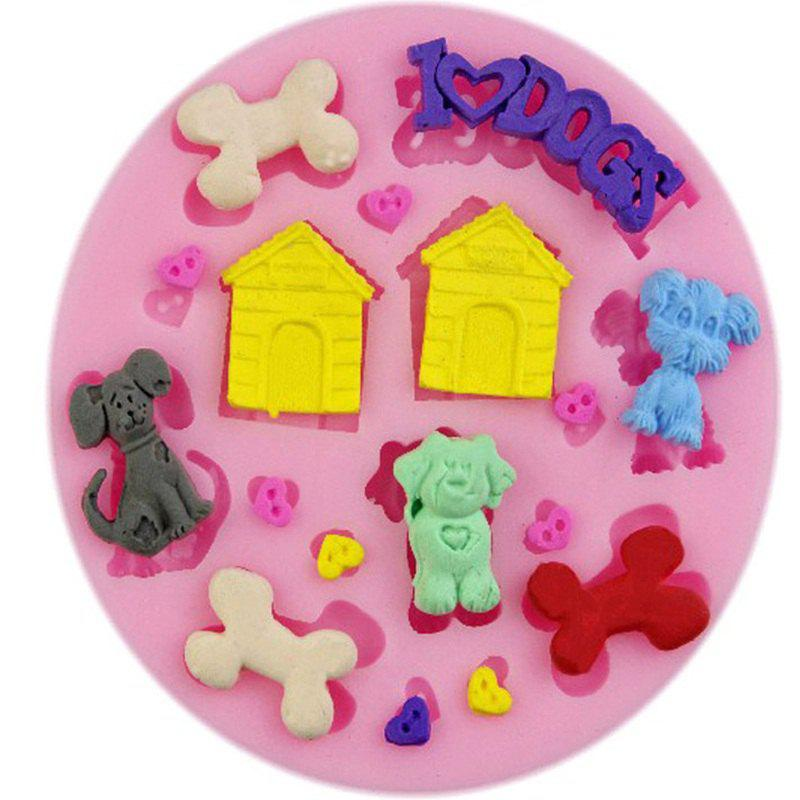 Dogs 3D Silicone Soap Mold Fondant Candle Molds Sugar Craft Tools Chocolate Moulds Bakeware Cake Decorating Tools 10 in 1 fondant cake decorating flower modelling tool set multicolored