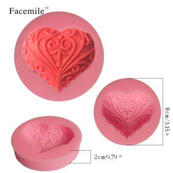 3D Cute Heart Love Leaf Shape Silicone Fondant Cake Molds Soap Chocolate Mould for The Kitchen Baking Clay Mould - PINK