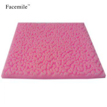 Sexy Leopard Texture Silicone Gift Mold Lace Border Fondant Mould Kitchen Baking Decoration Gift Tool - PINK